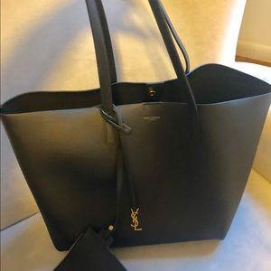 Saint Laurent Bags - SHOPPING BAG SAINT LAURENT E W IN SUPPLE LEATHER e349867e23d7f